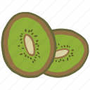 chinese gooseberry, food, fresh, fruit, healthy, kiwi, vitamin icon
