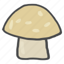 food, healthy, mushroom, tropical, vegetable, vitamin d icon