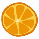 citrus, food, fruit, healthy, orange, tropical, vitamin c icon
