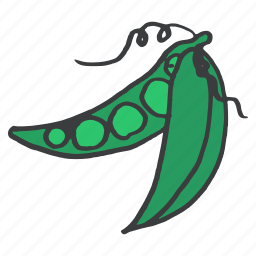 food, fresh, green, healthy, pea, peas, vegetable icon