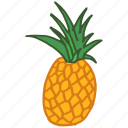 food, fresh, fruit, healthy, pineapple, tropical, vitamin c icon