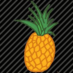 food, fresh, fruit, healthy, pineapple, tropical, vitamin c icon