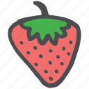 eat, food, fruit, healthy, romance, romantic, strawberry icon
