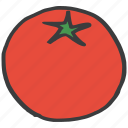 eat, food, fresh, fruit, healthy, tomato, vegetable icon