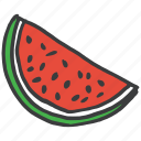 fruit, healthy, juicy, melon, vegetable, watermelon icon