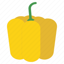 bell pepper, eat, food, fruit, healthy, vegetable, yellow icon