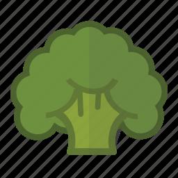 broccoli, cruciferous, fiber, food, healthy, vegetable, vitamin c icon