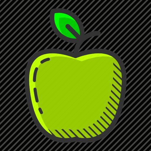 apple, dessert, food, fruit, green apple, healthy, vitamin icon
