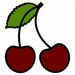 cherry, diet, fruit, fruits, healthy food, sweet, vegetarian icon