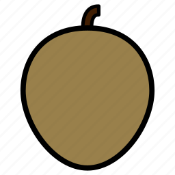 diet, fruit, healthy, healthy food, sapodilla, sweet, vegetarian icon