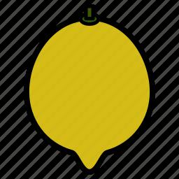 diet, food, fruit, healthy food, lemon, sweet lemon, vegetarian icon