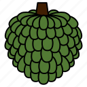 diet, fruit, healthy, healthy food, sugar apple, sweet, vegetarian icon