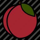 diet, food, fruit, healthy, healthy food, peach, vegetarian icon