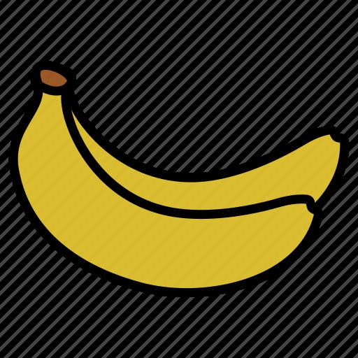 banana, diet, food, fruits, healthy, healthy food, vegetarian icon