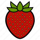 berry, diet, food, healthy food, strawberry, sweet, vegetarian icon