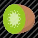food, fresh, fruit, half kiwi, healthy, kiwi, vitamin icon