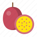 food, fresh, fruit, healthy, passion fruit, vitamin icon
