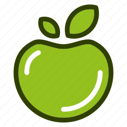 apple, food, fruits, natural, vegetables icon