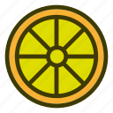 food, fruits, lemon, natural, vegetables icon