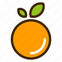 food, fruits, natural, orange, vegetables icon