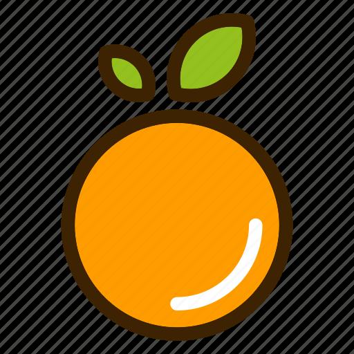 food, fruits, natural, orange, vegetables icon