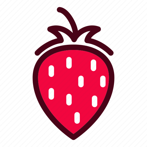 food, fruits, natural, strawberry, vegetables icon