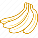 banana, banana chips, banana juice, food, fruits, fruits icon, healthy food icon