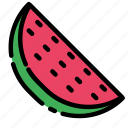 fruit, sweet, vegetable, vitamin, watermelon icon
