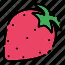 fruit, strawberry, vegetable, vitamin icon
