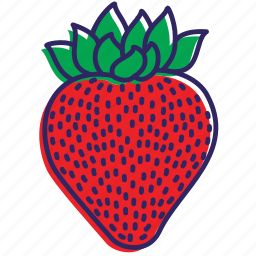 berries, fruit, fruits, healthy food, strawberries, strawberry icon
