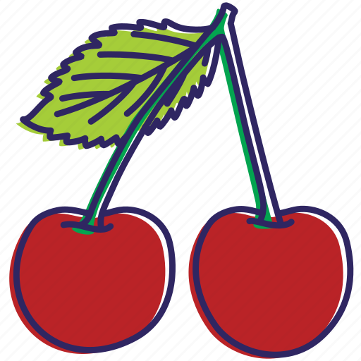 cherry, fruits, healthy food, organic, sour cherry icon