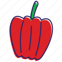 chilli, bell pepper, healthy food, vegetables, hot, vegetable, papper icon