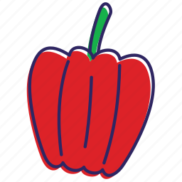bell pepper, chilli, healthy food, hot, papper, vegetable, vegetables icon