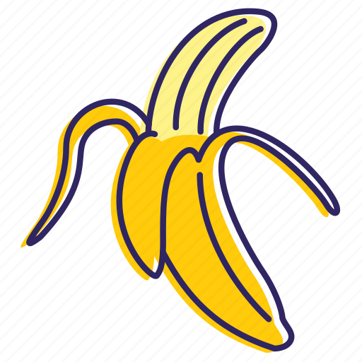 banana, bananas, fruit, healthy food, sweet icon