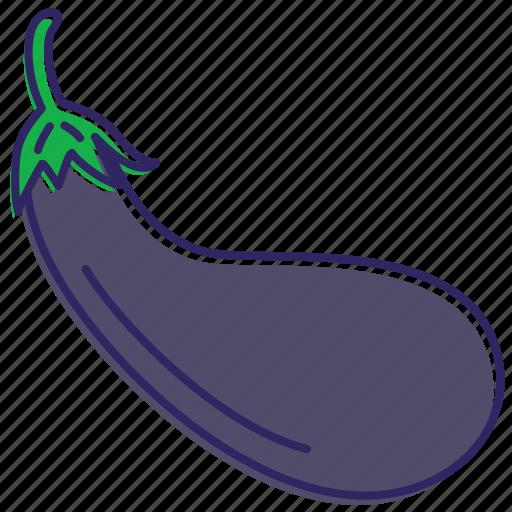 aubergine, eggplant, healthy food, vegetable, vegetables icon