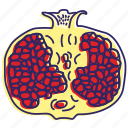 fresh fruit, fruit, fruits, healthy food, juice, pomegranate icon