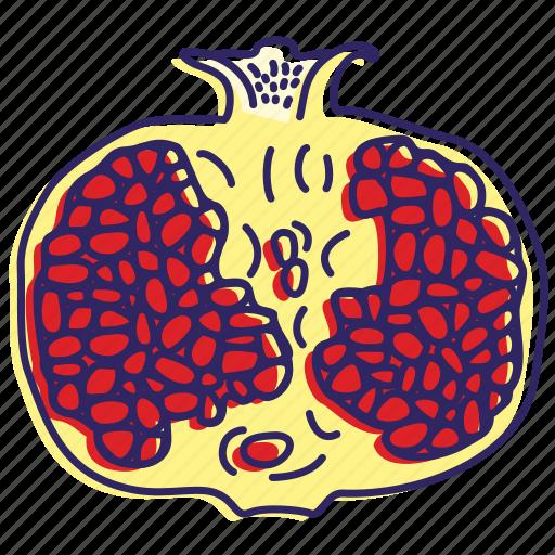 fresh fruit, fruit, fruits, healthy food, juice, pomegranate icon