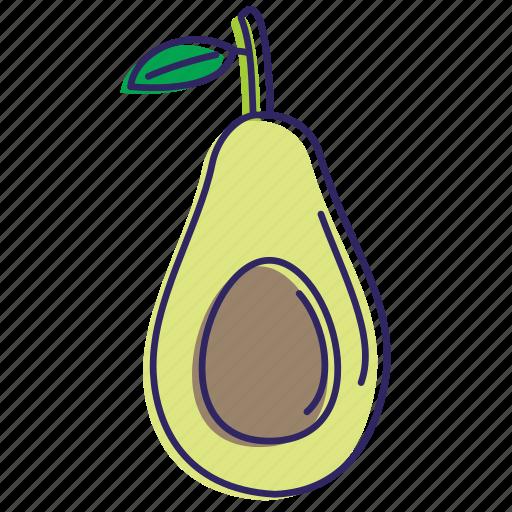 avocado, avocadoes, fruit, fruits, healthy food, organic icon