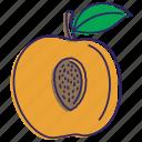 fresh, fruits, healthy food, organic, peaches