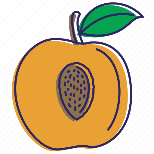 fresh, fruits, healthy food, organic, peaches icon