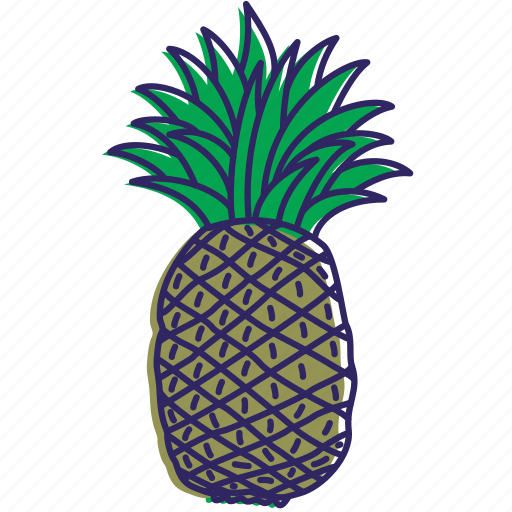 fruit, fruits, healthy food, pinapple, pinapples icon