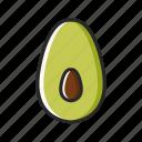 avocado, fresh, fruits, vegetables