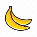 banana, fresh, fruits, vegetables