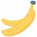 banana, food, fruit, healthy, vitamins icon