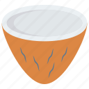 coconut, drink, food, fruit, nut icon