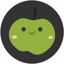 apple, food, fruit, green, green apple, ingredient, sour icon