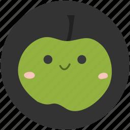 apple, food, fruit, green, green apple, ingredient, sour icon