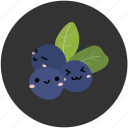 berry, blueberry, fruit, healthy, ingredient, sour, yummy icon