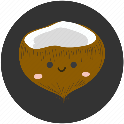 clean food, coconut, fruit, ingredient, sweet, tropical, tropical fruit icon