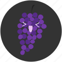 clean food, fruit, fruits, fruity, grape, ingredient, wine icon